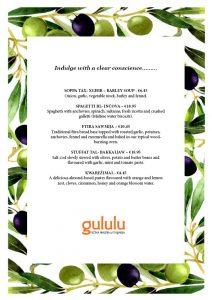 Lent menu